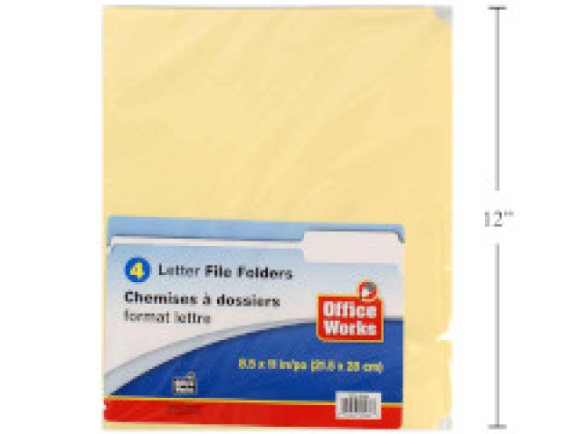 File folders letter size 4 pack