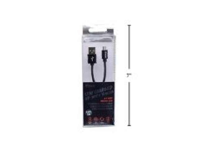 Cable micro usb charge and sync black 1 meter iFocus