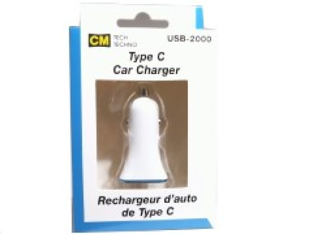 Charger 1 USB port 1 Type-C port 2.4A for car