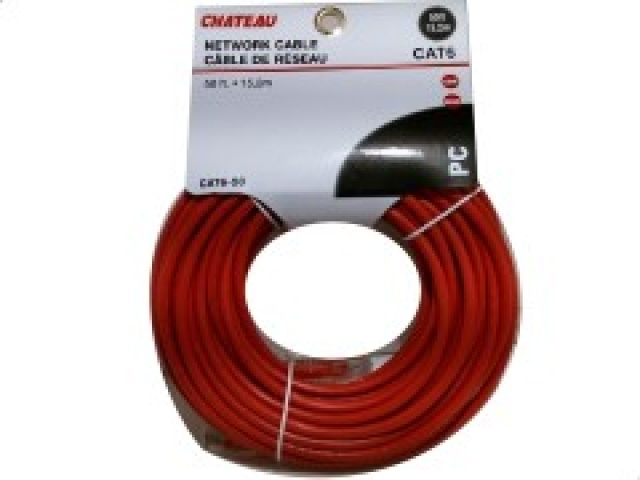 Cat 6 network cable 50 foot 15.2m Assorted colours and quality