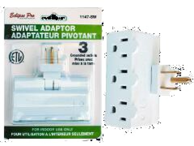 3 outlet swivel adaptor