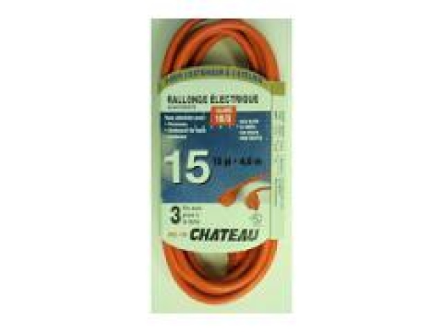 Cord Extension outdoor 16/3  15ft orange