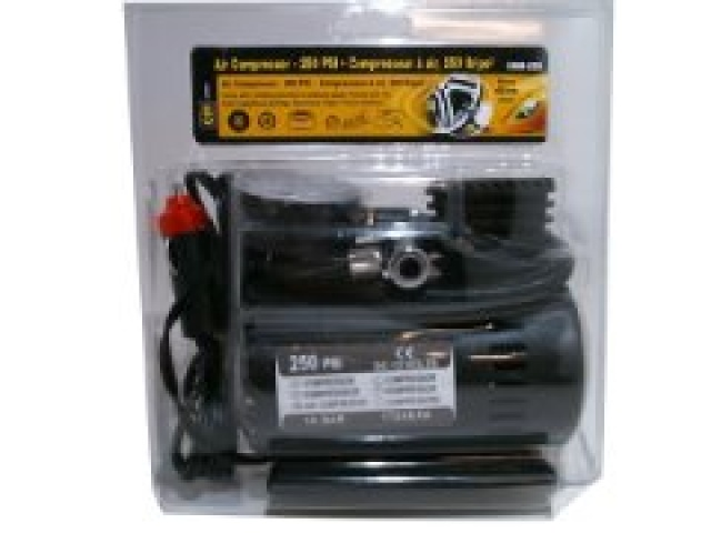 Air compressor 250PSI portable with cig. Power adaptor