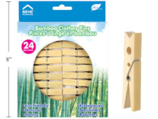 Clothespins - bamboo pack of 24