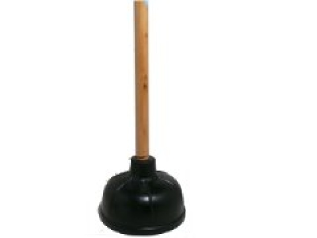 Action-1  21 2-in-1 Plunger Varnished Handle\