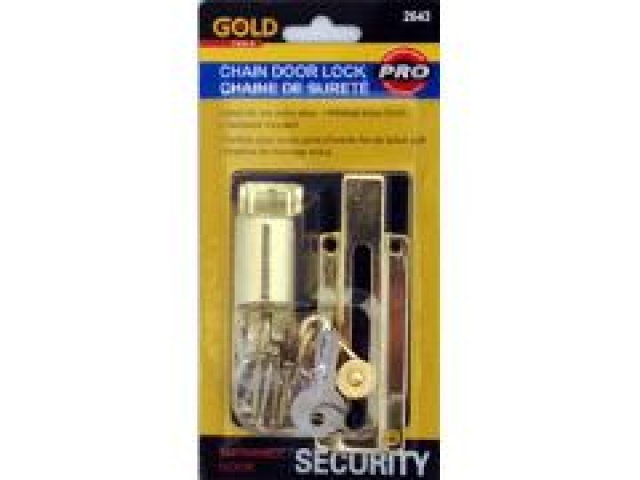 Chain door lock with key