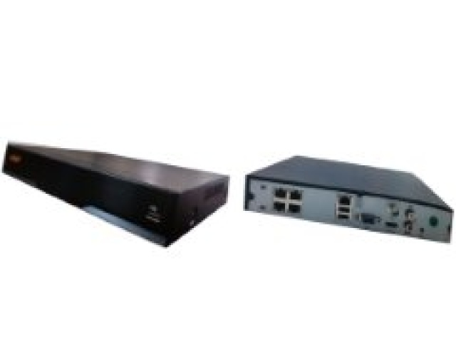 NVR 4 channel POE 1080P network video recorder with 1TB HD - 1ch face detection