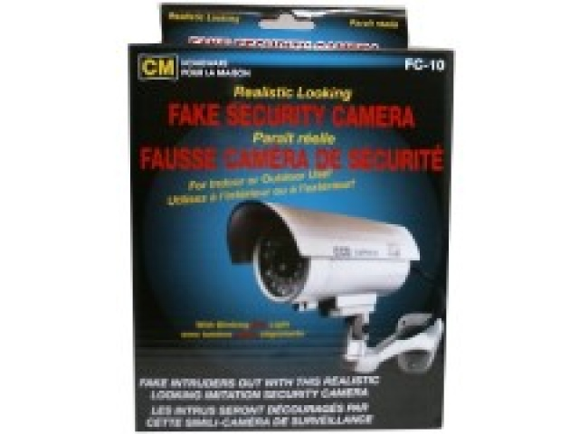 Security camera decoy/fake realistic looking with blinking red light