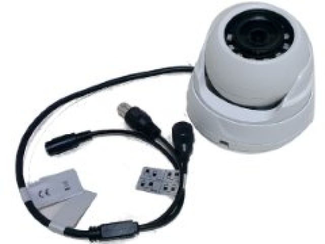 Security camera white dome CVI-AHD-CVBS-TVI switchable 2MP 1080p