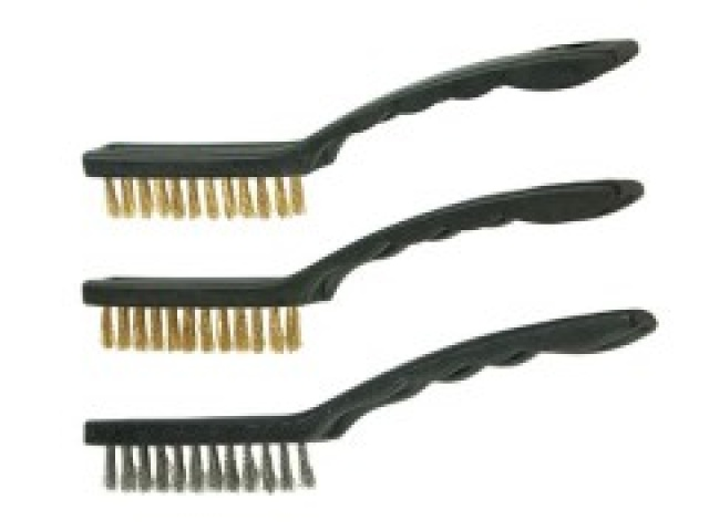 3 Pc Wire Brush Set