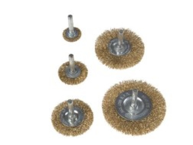 5 Pc Steel Wire Wheel Brush Set
